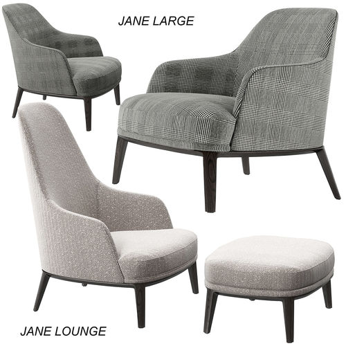 Poliform Jane Lounge and Large armchairs 3D model