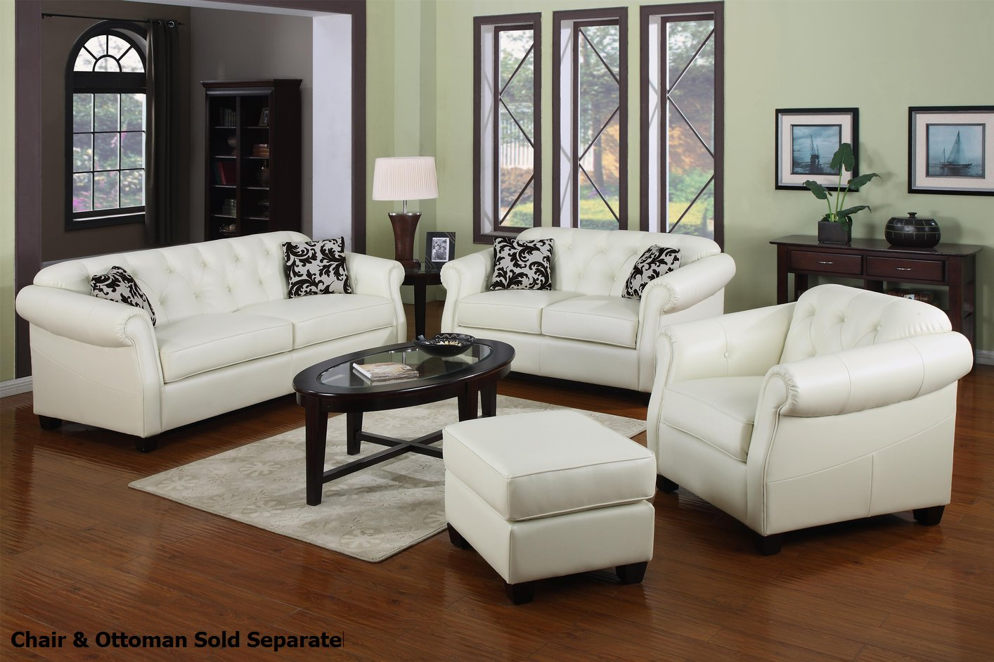 Kristyna White Leather Sofa and Loveseat Set - Steal-A-Sofa Furniture  Outlet Los Angeles CA