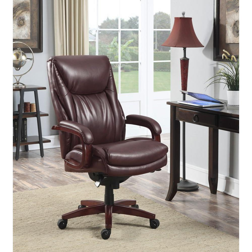 La-Z Boy Edmonton Coffee Brown Bonded Leather Executive Office Chair