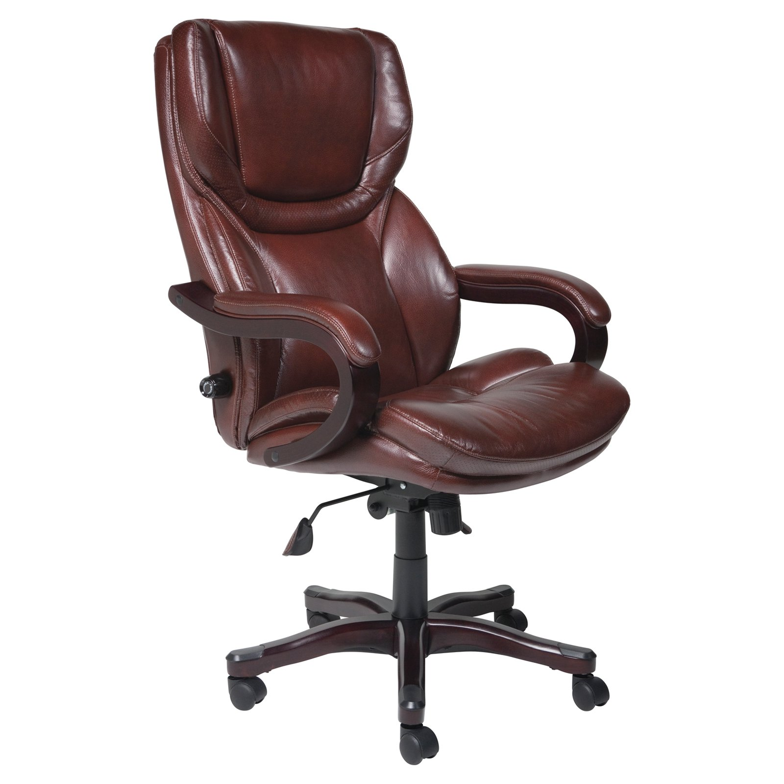 Essentials by OFM ESS-6030 High-Back Bonded Leather Executive Chair with  Fixed Arms, Black - Traveller Location