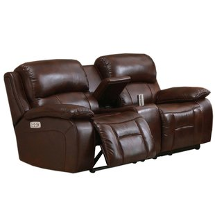 Westminster II Leather Reclining Loveseat