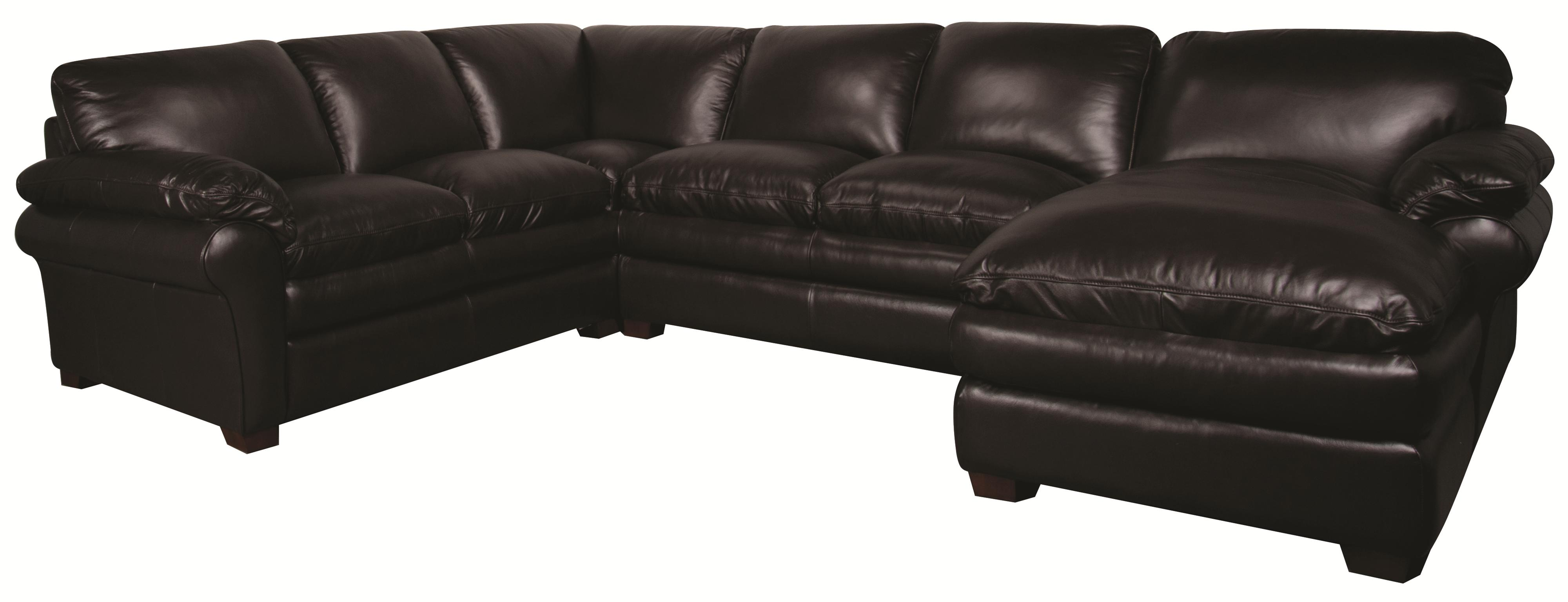 Edison 100% Leather Sectional Sofa