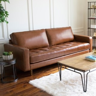 Buy Leather Sofas & Couches Online at Overstock | Our Best Living Room Furniture  Deals
