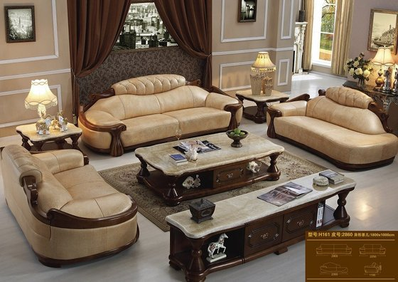 Luxury Leather Furniture Sofa Set H161 image