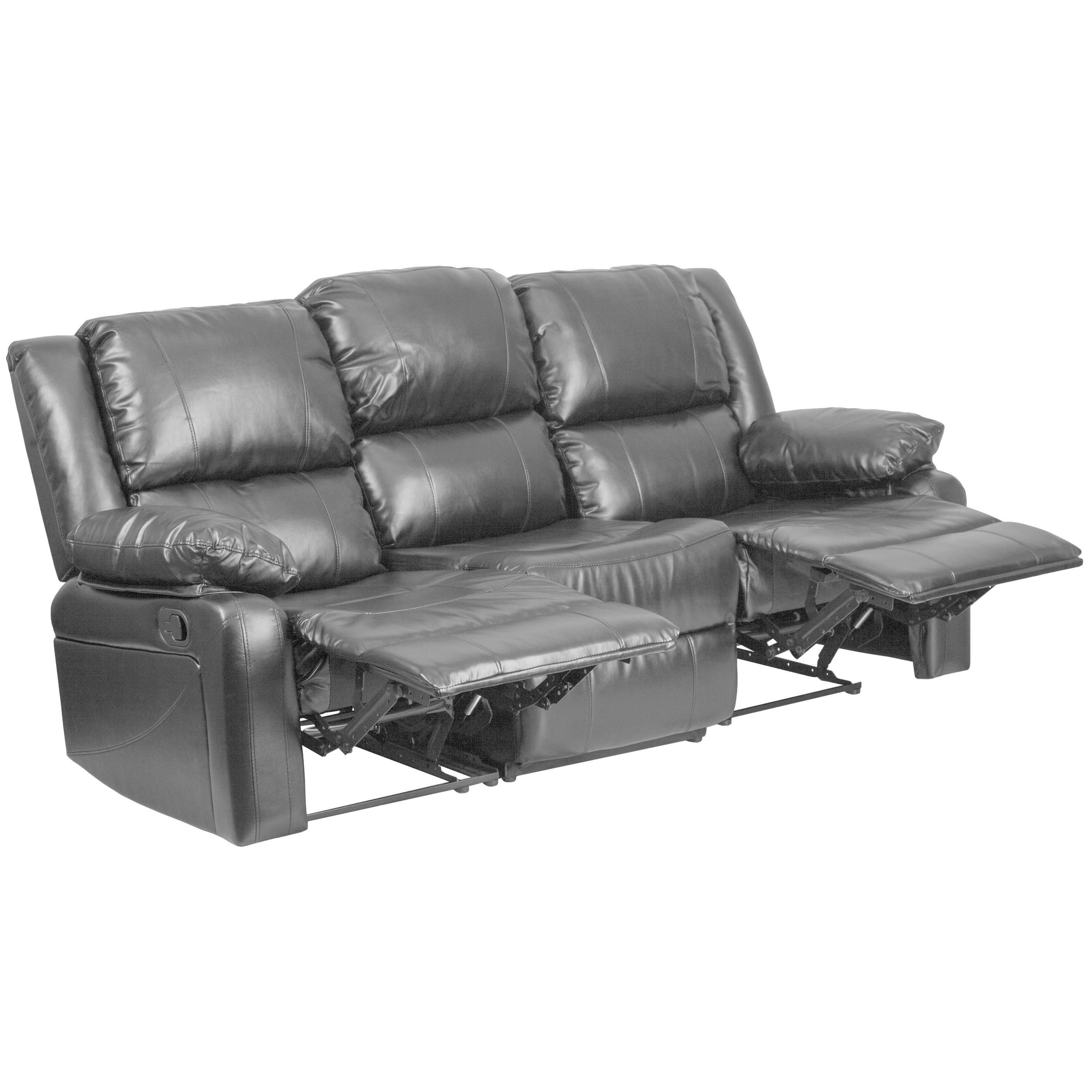 Shop Copper Grove Malheur Leather Sofa with Two Built-in Recliners - Free  Shipping Today - Overstock - 20340373