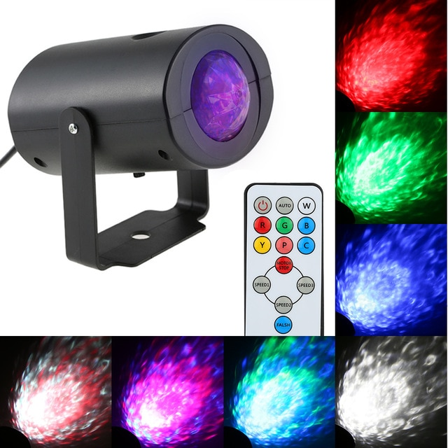 Mini LED Stage Light Effect RGBW Water Wave Ripple Speed Adjustable