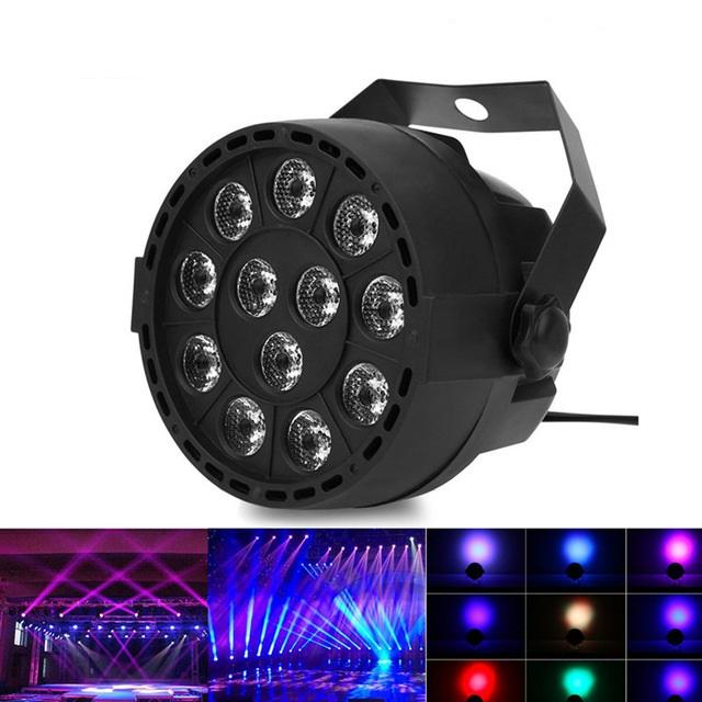 2019 Portable Mini Stage Par Lamp 8CH 12 LEDs RGBW Color Mixing Led