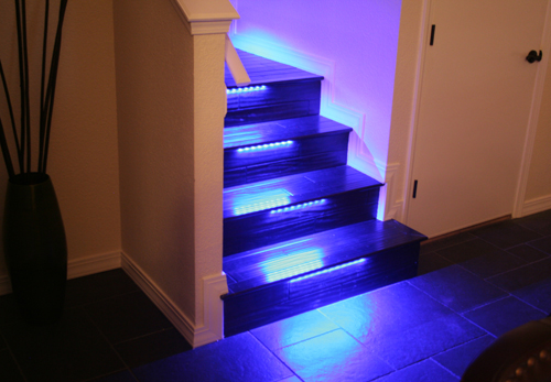 Wallace Takes His Stairs Beyond the Bulb with Color-Changing LED