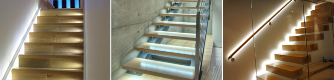 Staircase LED Lighting - Strip Lights, Plinth Lights | Bright Lightz