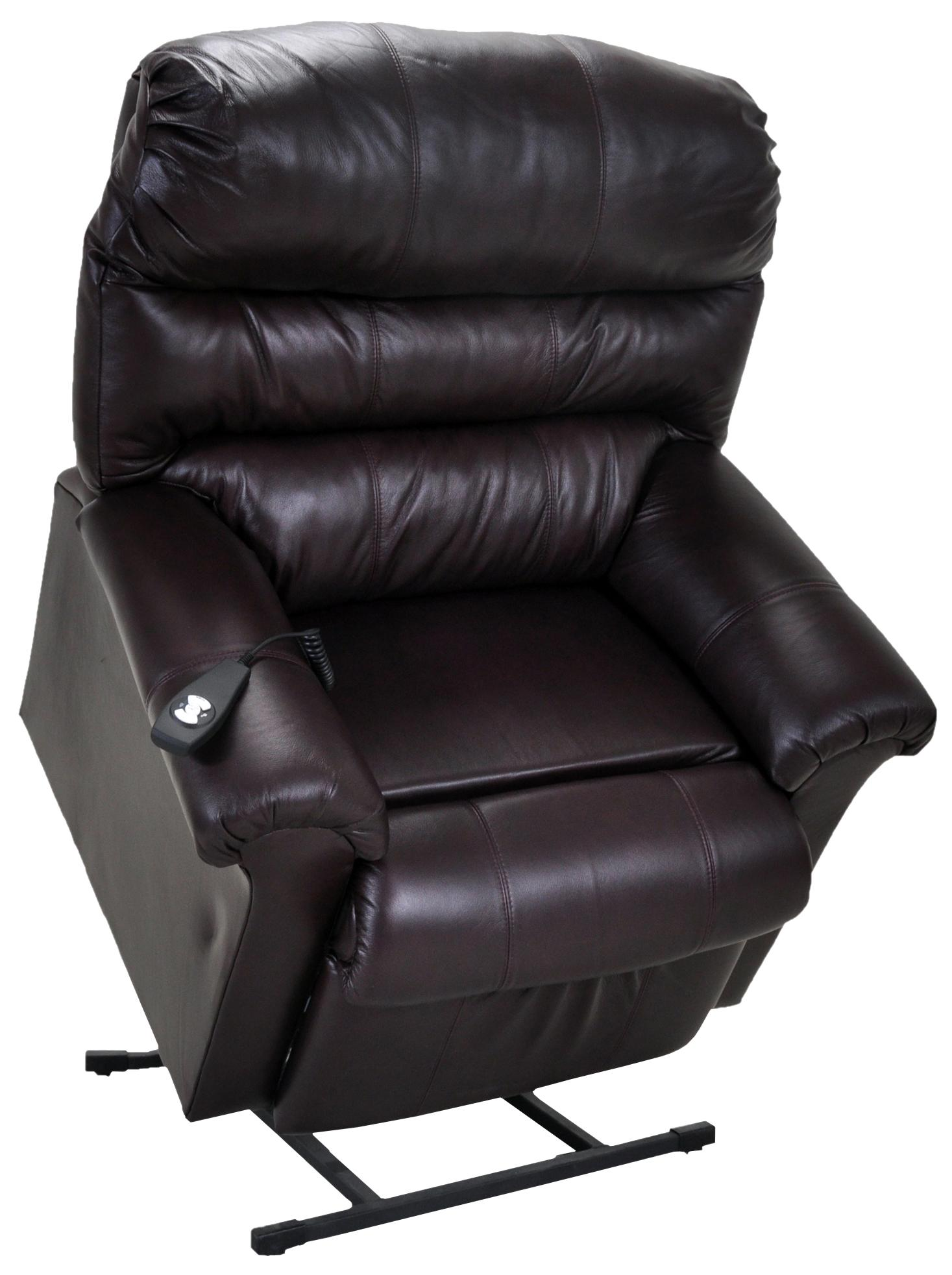 Franklin Lift and Power Recliners Chocolate Leather Lift Chair