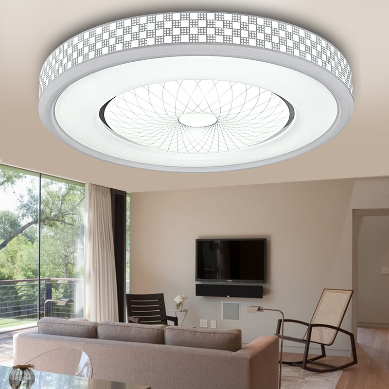 12W 1200LM LED Ceiling Light,Round Flush Mount Fixture Lamp,Home Study  Kitchen Bedroom Living Room Lighting - Traveller Location