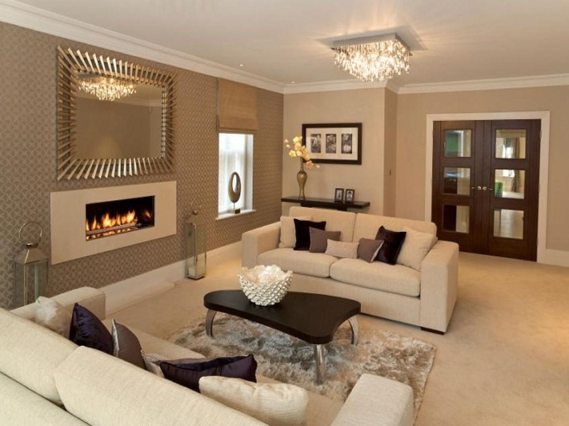light-brown-wall-paint-livingroom-luxury-ceiling-glass-lights-fixtures- living-room-furniture-sets-modern-ideas-contemporary-small-formal-white-leather-