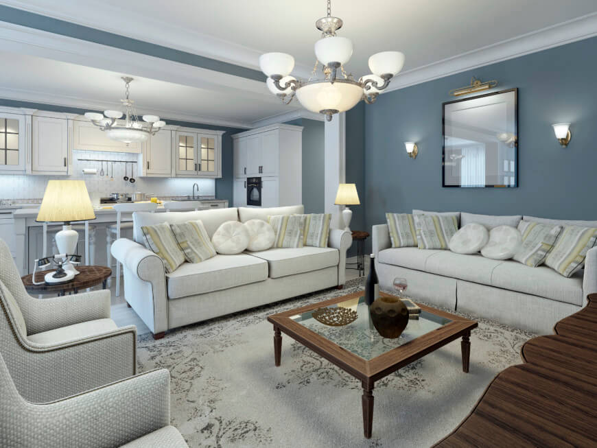 Living Room Paint Colors Blue