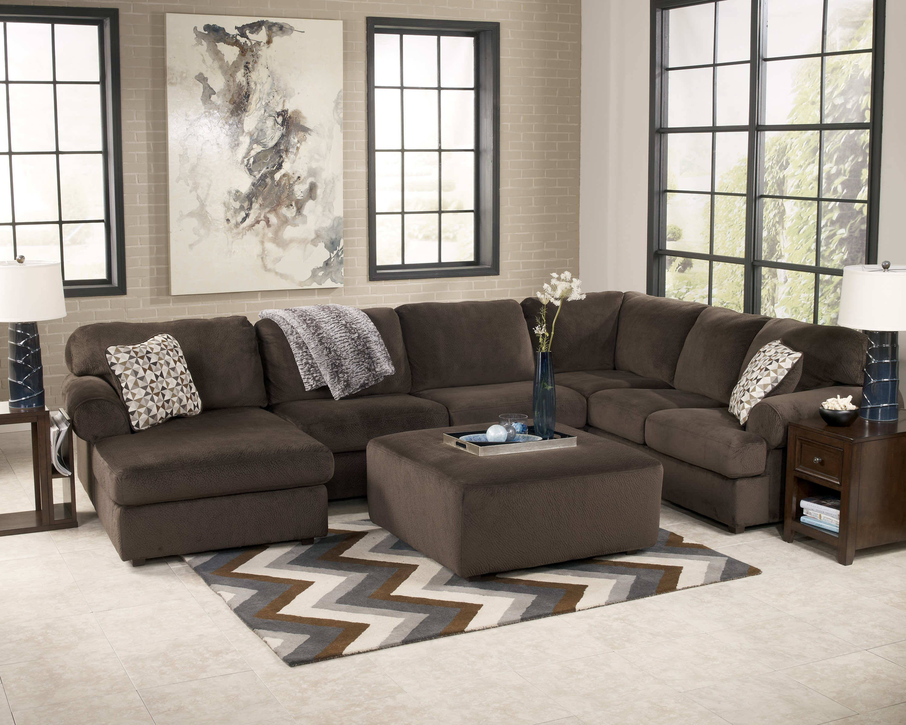 Buy Jessa Place - Chocolate Living Room Set by Signature Design from  www.Traveller Location.