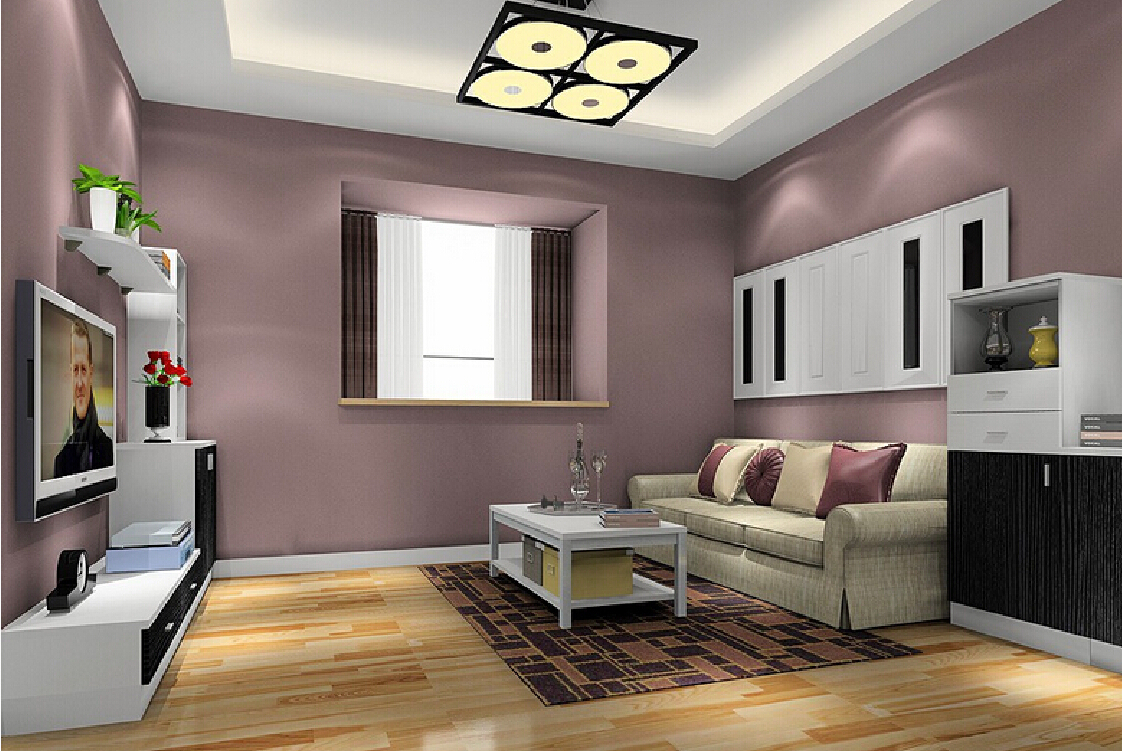 Image of: Living Room Paint Color With Brown Furniture