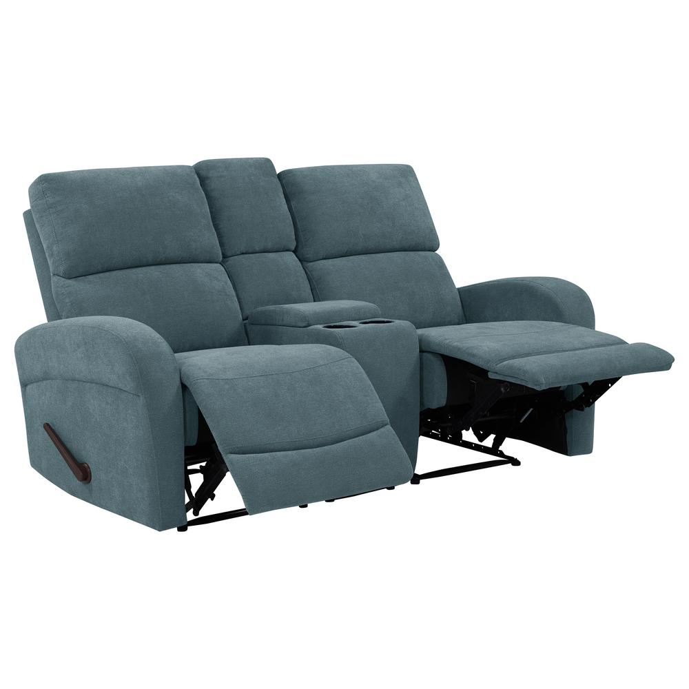 ProLounger Caribbean Blue Chenille 2-Seat Recliner Loveseat with Power  Storage Console-RCL53-BRM55-2SC - The Home Depot