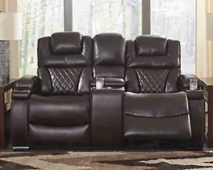 large Warnerton Power Reclining Loveseat with Console, , rollover