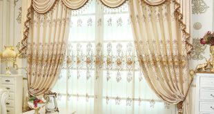 HQYQJJHYR European luxury Embroidered Blackout curtains for Living Room  Customized chenille luxury curtains for Bedroom/kitchen