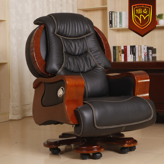 Niumai Luxurious Leather Reclining Chairs Swivel Office Chair Regarding  Luxury Decor 2