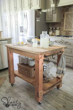 DIY Kitchen Island FREE Plans and tutorial by Shanty 2 Chic! Kitchen Island  Diy Rustic
