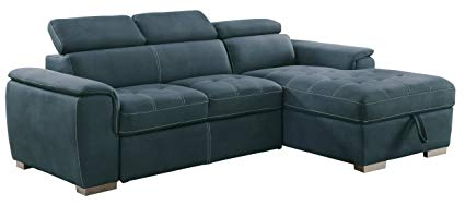 Homelegance Ferriday Modern Convertible / Adjustable Pull-Out Sofa Bed with  Lift-Up Storage