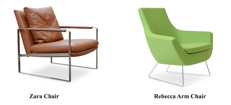 At sohoConcept, we work with a variety of businesses, including offices,  retail spaces, clinics, and more. We provide modern armchairs for uses in  these