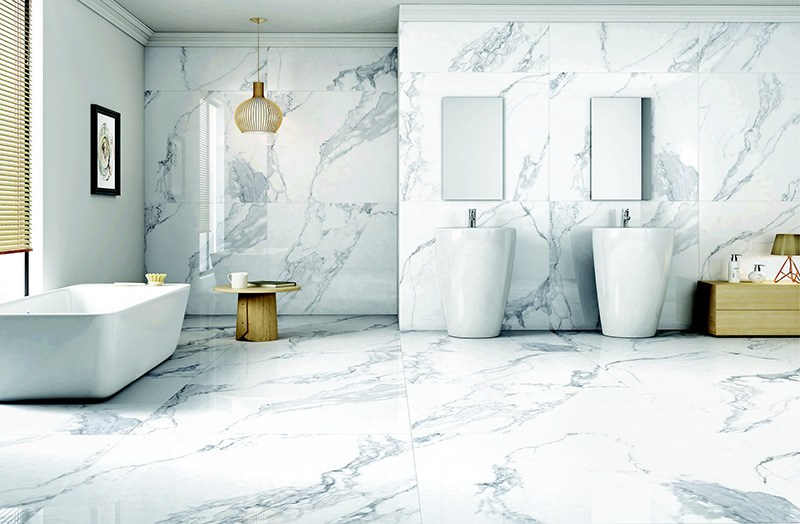 Marble Tiles For a Modern Bathroom