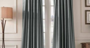 Modern Curtains Ideas Images. Charming Blue Silk Long Curtains Ideas