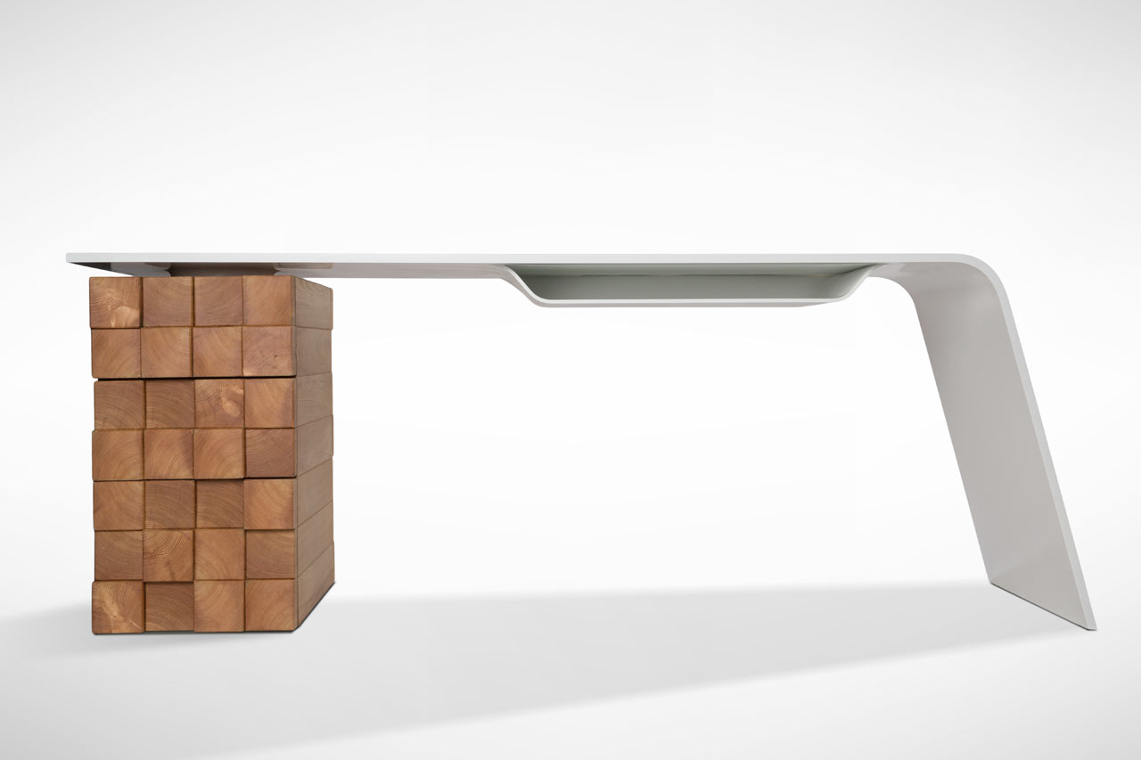 Collect this idea High-tech office desk Katedra by Desnahemisfera