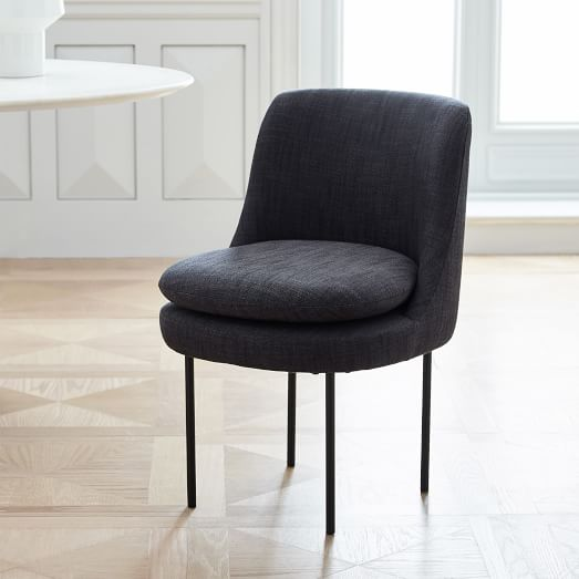 Modern Curved Upholstered Dining Chair | west elm