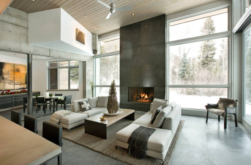 A contemporary open space flows from one area to another fluidly. Image: KF  Home Building
