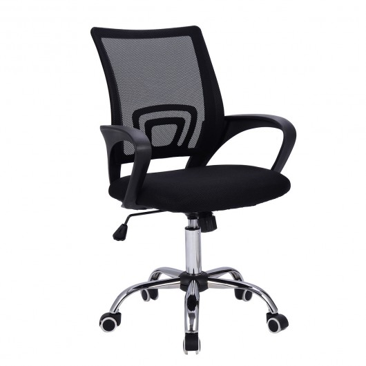 Modern Mesh Mid-Back Office Chair - Office Chairs - Office Furniture -  Furniture