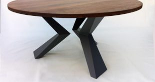 Contemporary Modern Round Dining Table Solid Walnut with Bird Legs in Solid  Waln Contemporary Modern Round Dining Table Solid Walnut with Bird Legs  in