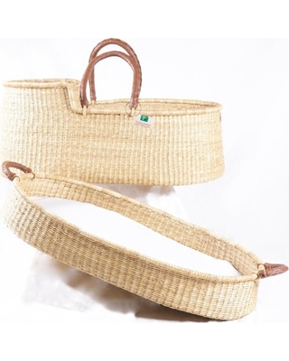 Get the Deal: Baby Moses Basket Baby Shower Gift Bassinet African Moses  Basket Changing Basket Signature Bilia Natural Matching Set
