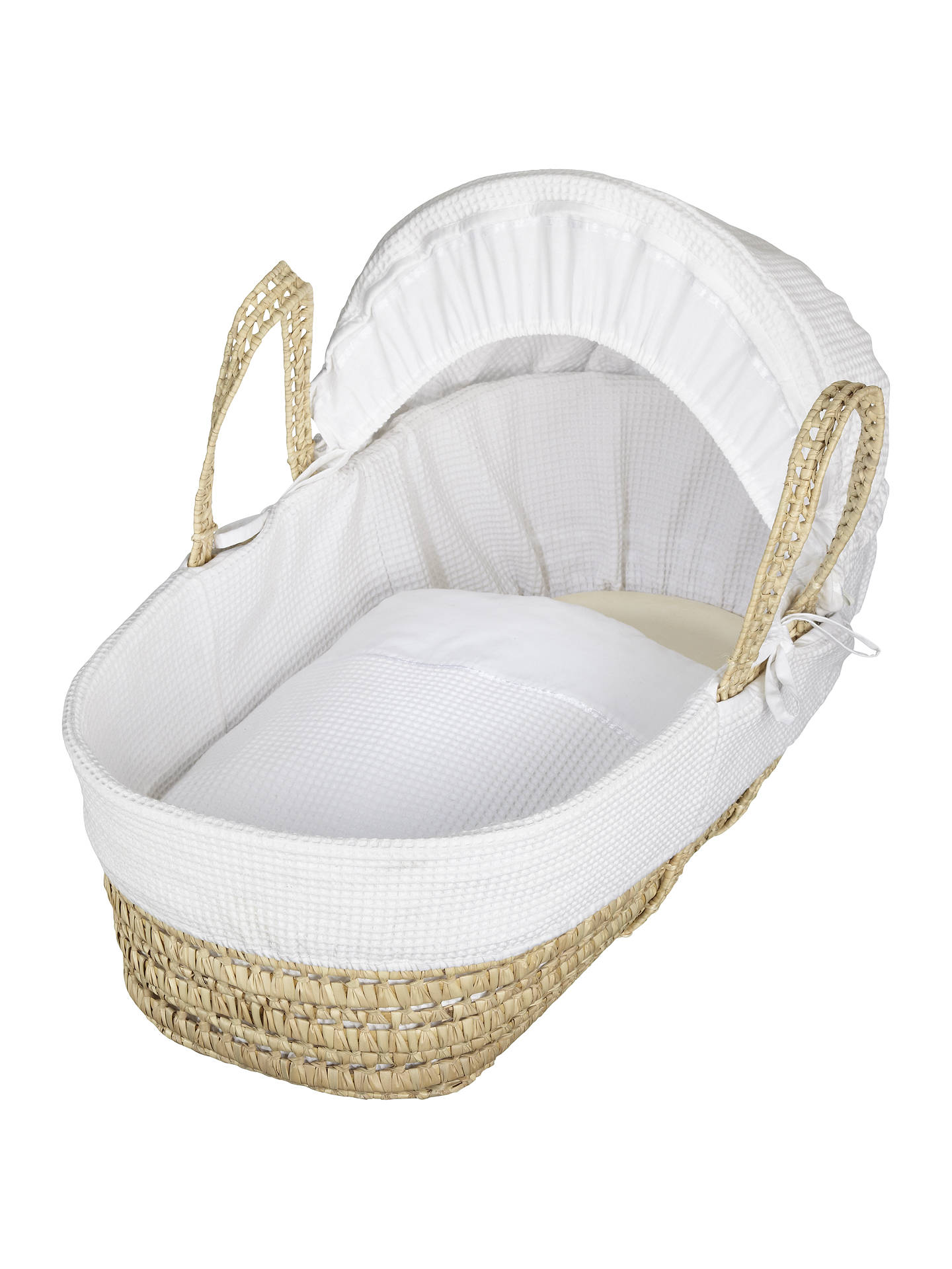 BuyJohn Lewis & Partners Waffle Moses Basket, White Online at johnlewis.
