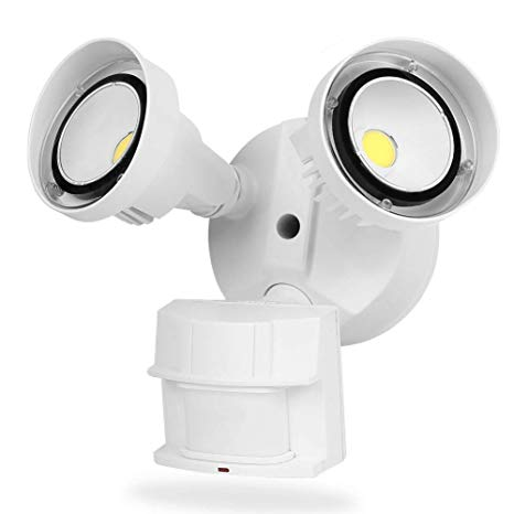 CINOTON 20W LED Flood Security Motion Light Outdoor[150W Equivalent