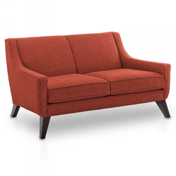A persimmon Lloyd Loveseat from Eurway is one of the best couches for small  spaces.