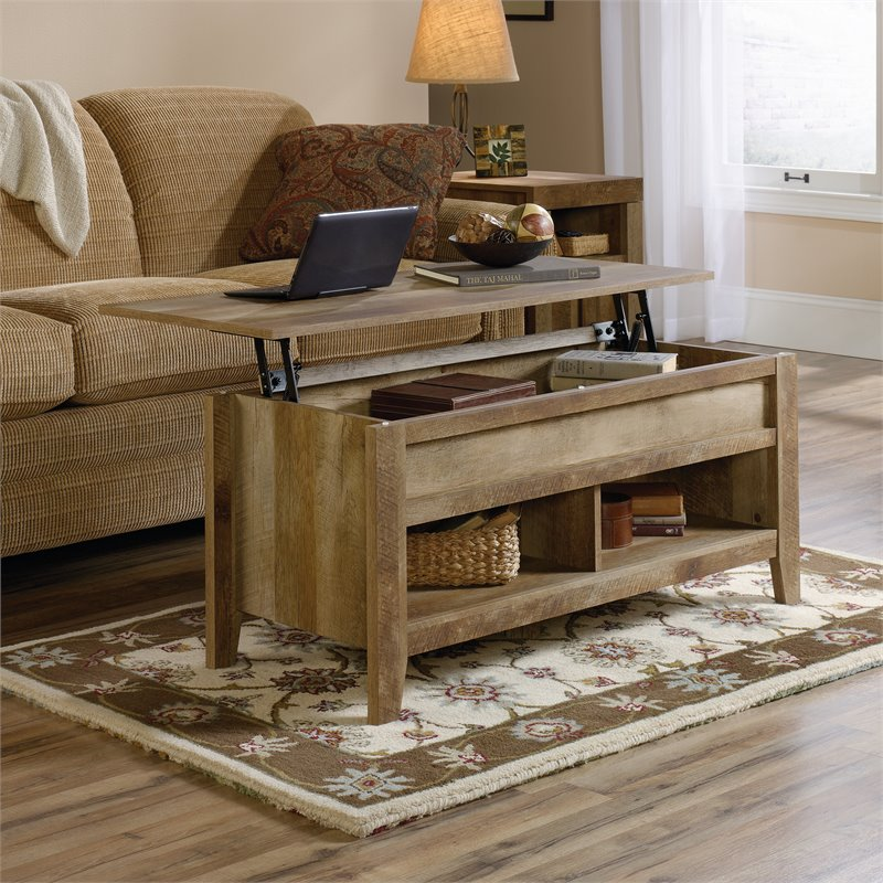 Sauder Dakota Pass Lift-Top Coffee Table, Craftsman Oak Finish - Traveller Location