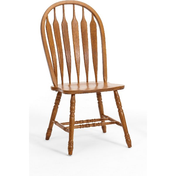 Country Oak Dining Room Chair with Turned Legs - Classic Chestnut