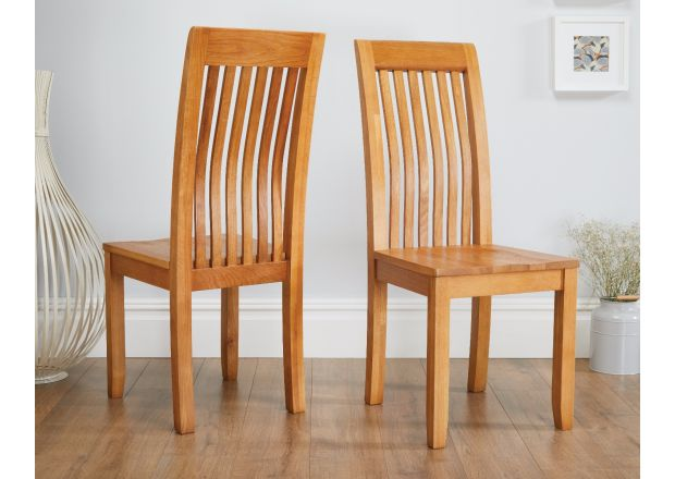 Westfield Solid Oak Dining Room Chair with Oak Seat