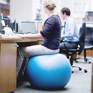 Image is loading Fitness-Ball-Office-Chair-Exercise-Body-Balance-Balancing-