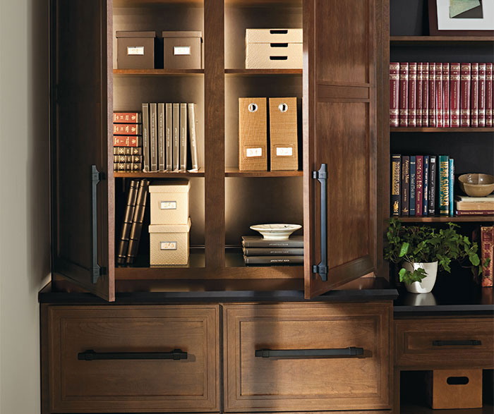 Cherry Office Cabinets - Omega Cabinetry