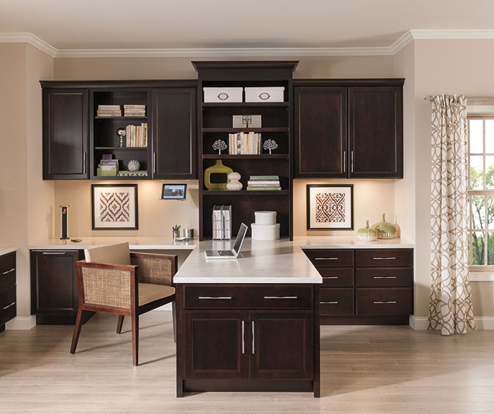 Office Cabinets in Dark Cherry Finish - Diamond Cabinets