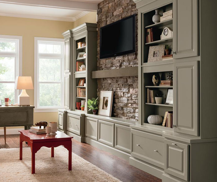 Casual Office Cabinets - Homecrest Cabinetry