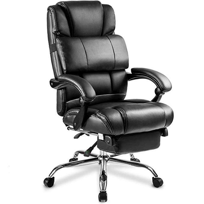 Traveller Location: Merax Portland Technical Leather Big & Tall Executive Recliner  Napping - Black: Home & Kitchen