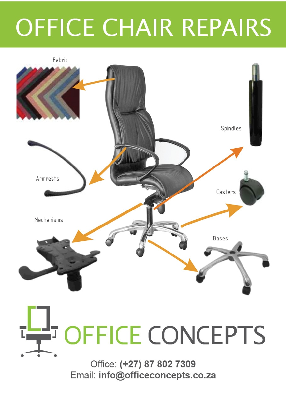 Repairs of office chairs - Office Concepts - office furniture supplier and  manufacturer Cape Town