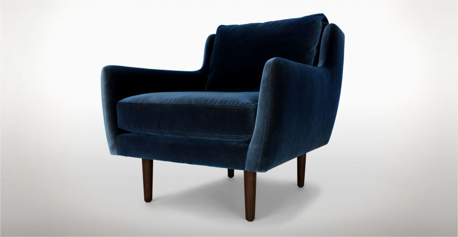 Tufted Accent Chair Club Armchair Velvet Office Chair Navy Blue