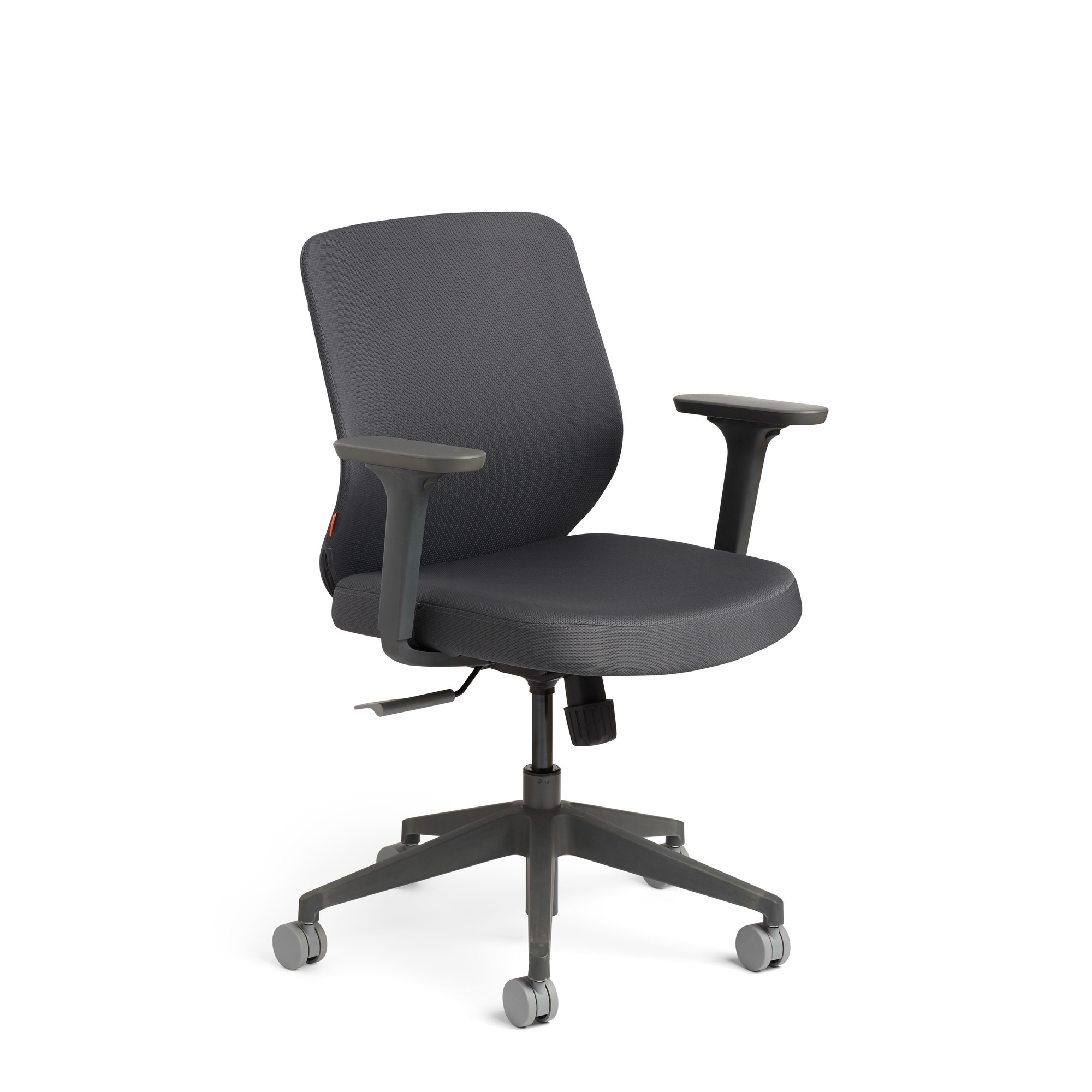 Dark Gray Max Task Chair, Mid Back, Charcoal Frame,Dark Gray,hi