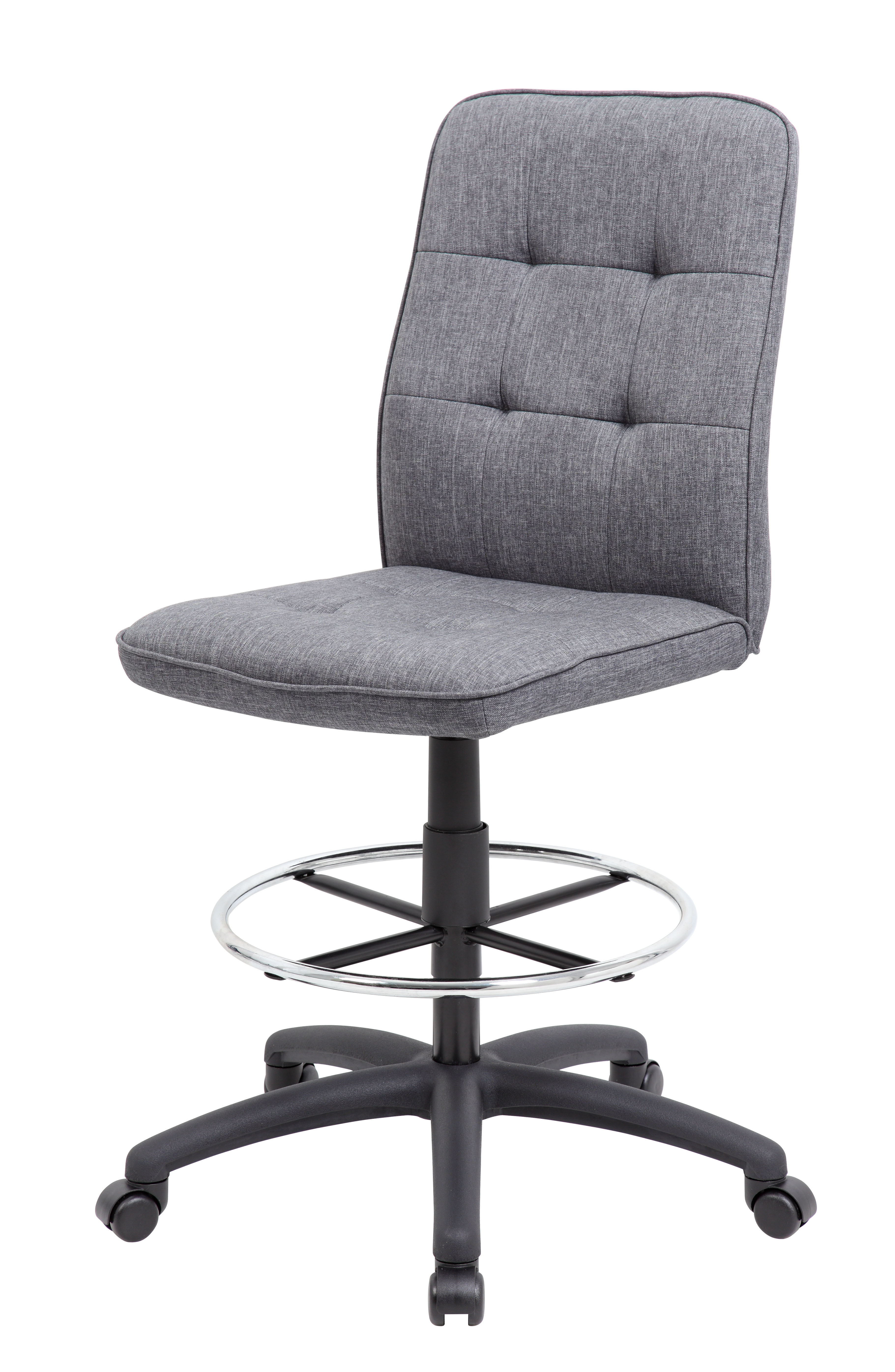 Boss Office & Home Slate Grey Modern Ergonomic Drafting Chair