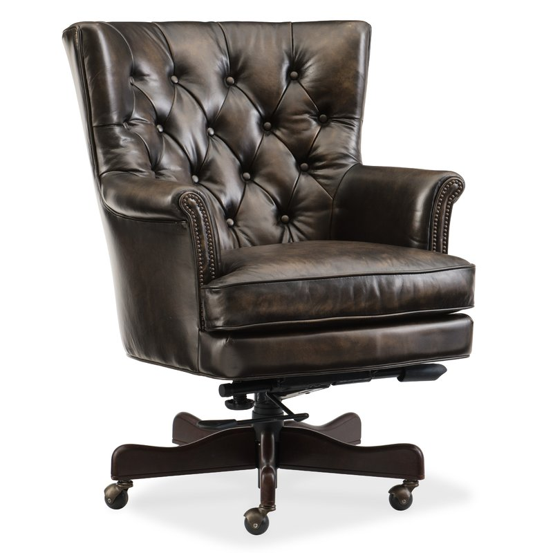 Hooker Furniture Theodore Home Office High-Back Leather Executive Chair &  Reviews | Wayfair